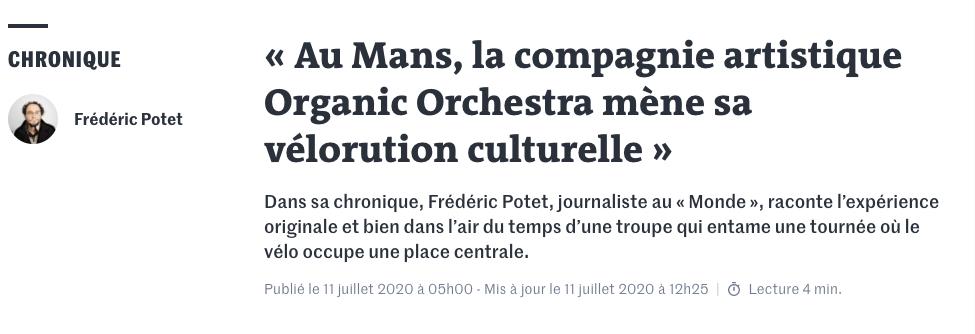 Article Le Monde - ONIRI 2070 - 12 juillet 2020