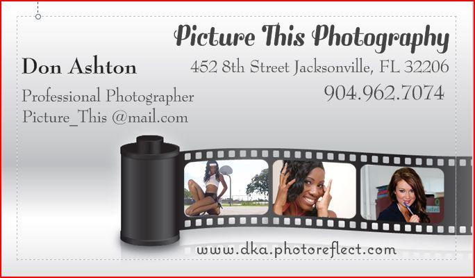 Business card flyer