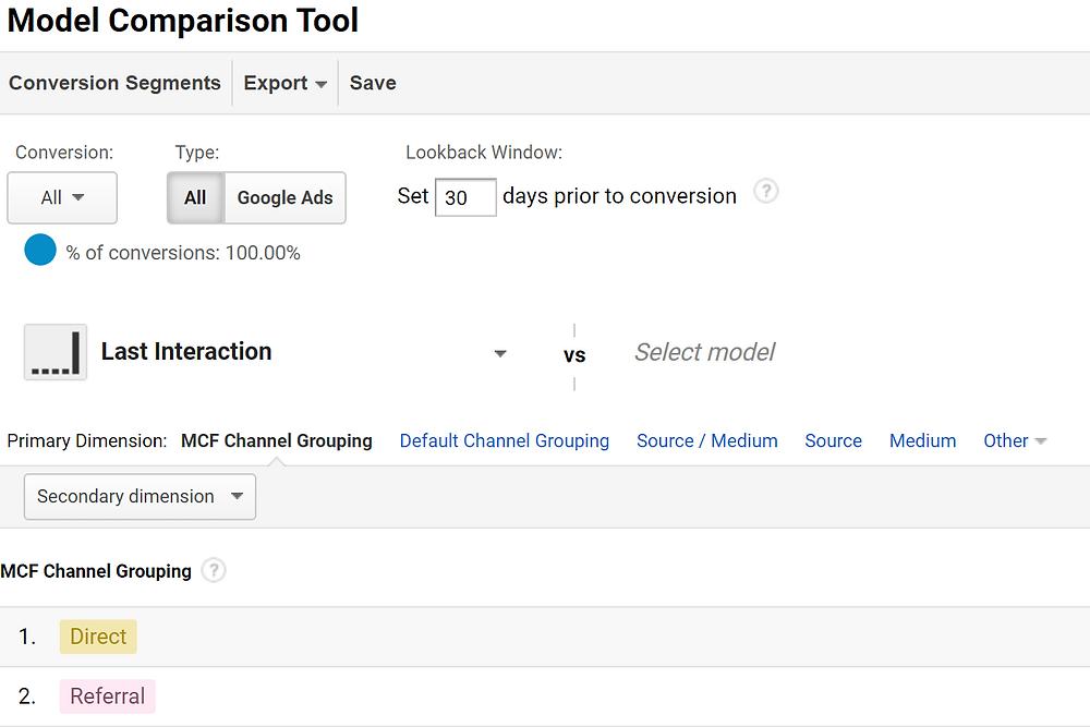 attribution model google analytics