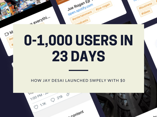 How Swpely Grew From 0-1,000 SignUps In 23 Days With $0