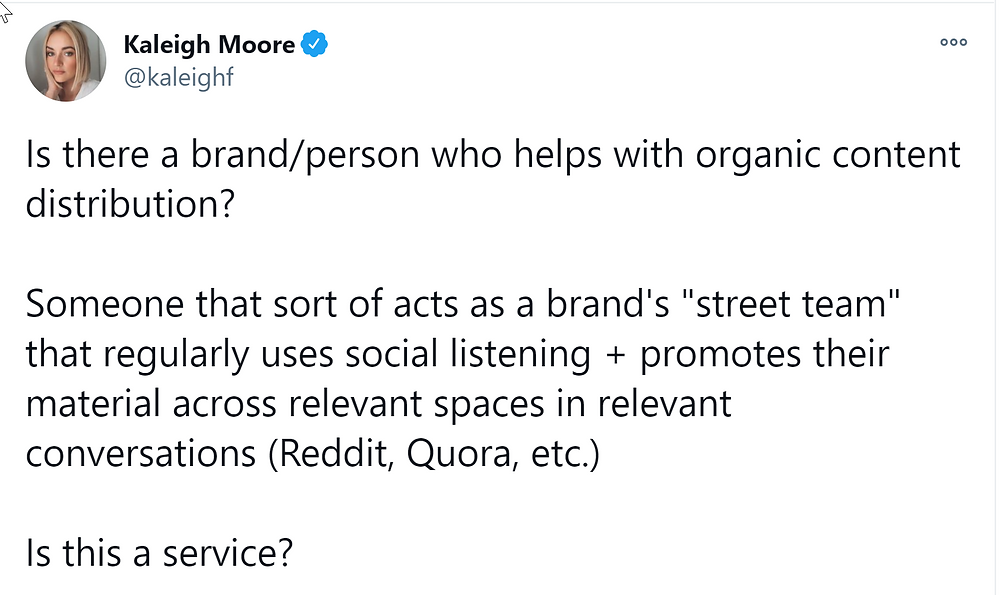 content promotion tweet