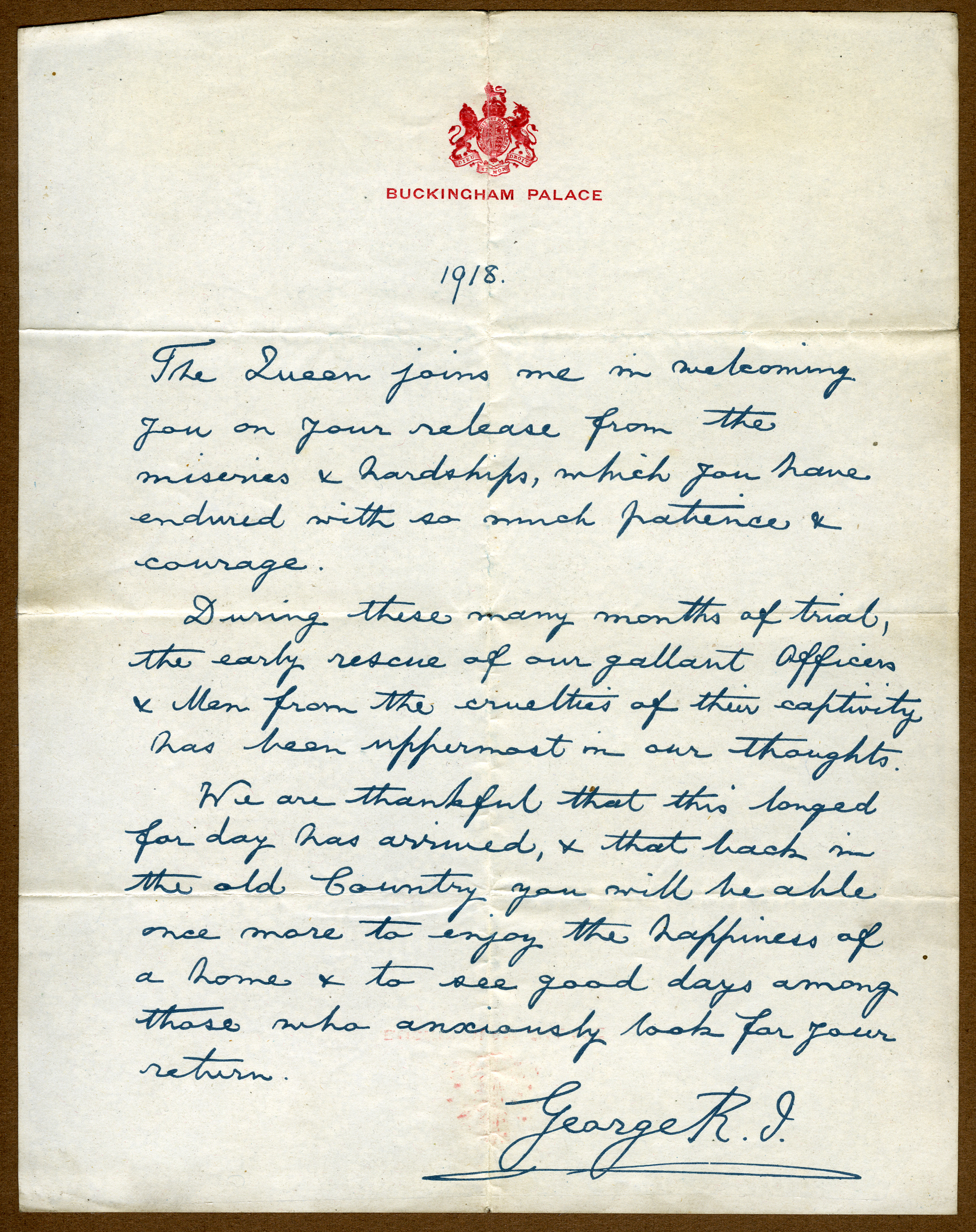 Letter from King George