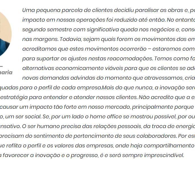 Depoimento de Eduardo Senra, diretor da Sempre Engenharia.