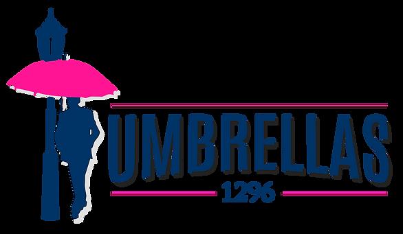 Umbrellas blue pink Logos.png