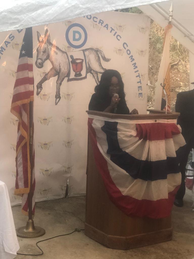 Speaking at St. Thomas District General Membership Meeting