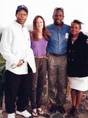 Carl Joseph standing beside Keith Richards, Cathy VanGotten and Mario Francis after an EAST Meeting