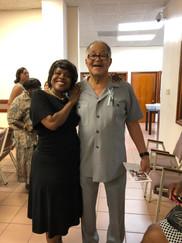 Carla Joseph with former Senator George E. Goodwin