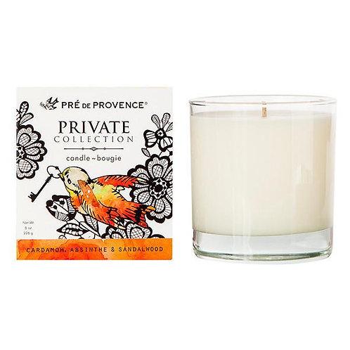 Cardamom, Absinthe & Sandalwood Candle Aromatic, Savory-Smooth
