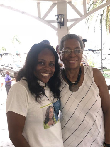 Carla Joseph and former Delegate to Congress the Donna Christensen