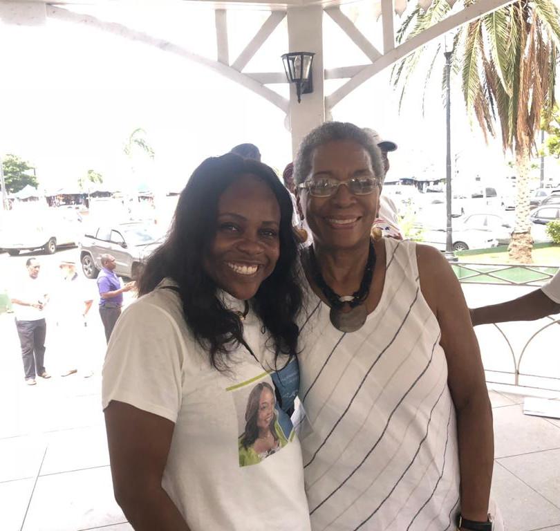 Carla Joseph and former Delegate to Congress the Donna Christensen