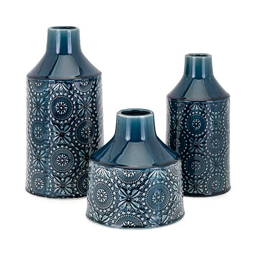 "Athena Vase 7-10-12""h x 6.5-4.75-6""d"