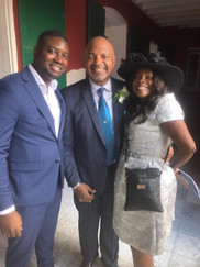 Carla Joseph with Lt. Governor Tregenza Roach and Shane K. Smith