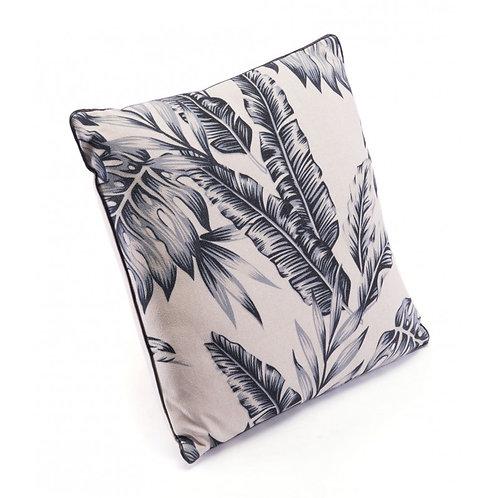 Leaves Pillow Black & Beige
