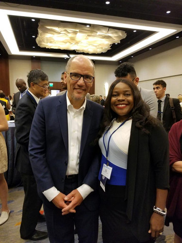Carla Joseph and Tom Perez Chair of the Democratic National Committee