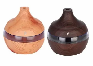 Aromatherapy Essential Oil Diffuser bamboo Humidifier Wood Grain