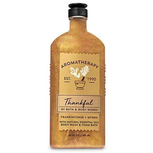 Aromatherapy Frankincense Myrrh with Natural Oils Body Wash & Foam Bath