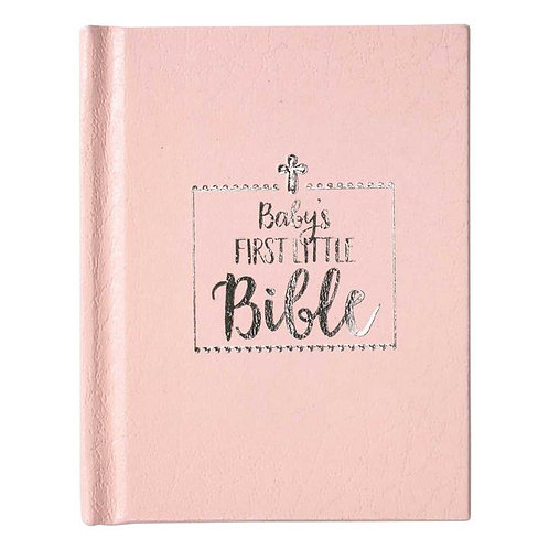 BABY GIRL FIRST BIBLE, PINK