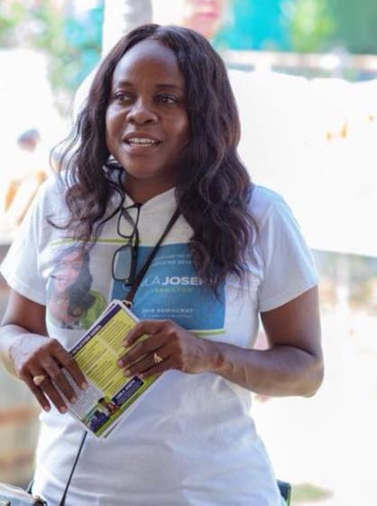 Carla Joseph during the 2018 Senatorial Campaign