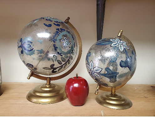 Aston Hand Printed Glass Globe