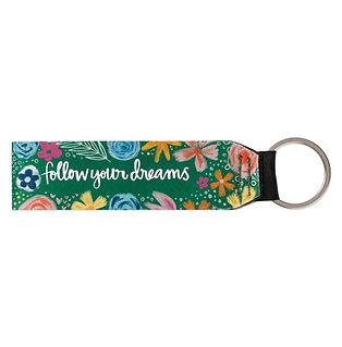 FOLLOW DREAMS WRISTLET KEY CHAIN