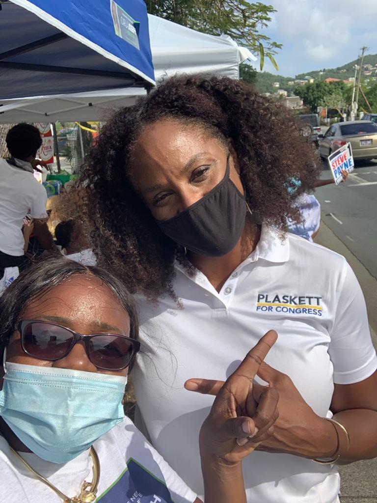 Carla Joseph with Stacey Plaskett