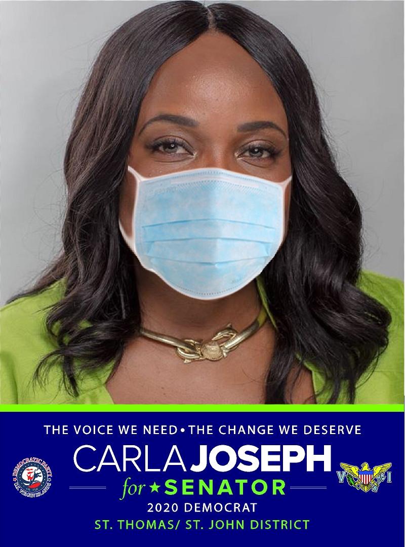 Carla Joseph for Senator with face mask.jpg