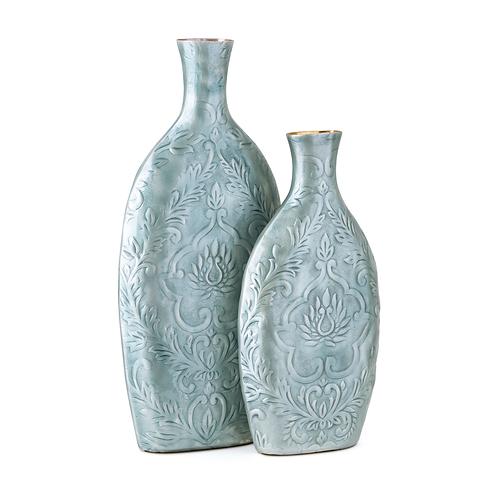 Austina Blue Enamel Vases