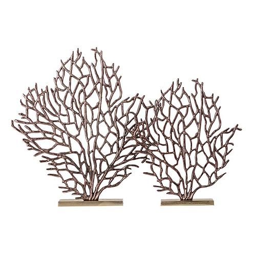 Dido Aluminum Coral Set Of 2