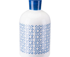 Large Bottle Steel Blue & White