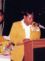 Carla Joseph with Former Senator George E. Goodwin in the background