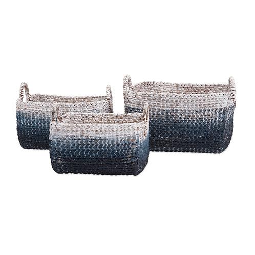 Cascade Woven Water Hyacinth Basket
