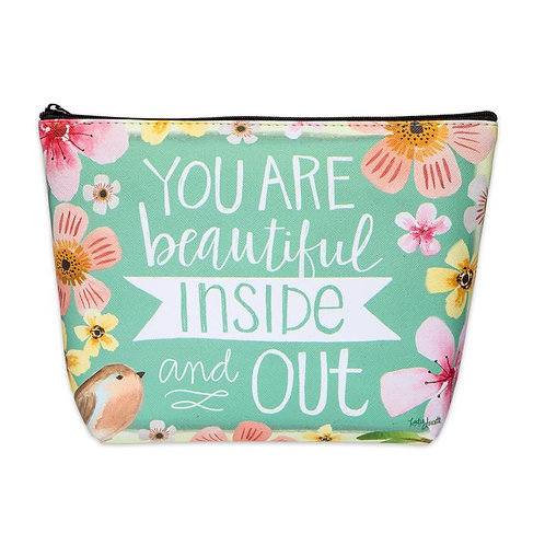 INSIDE OUT COSMETIC BAG