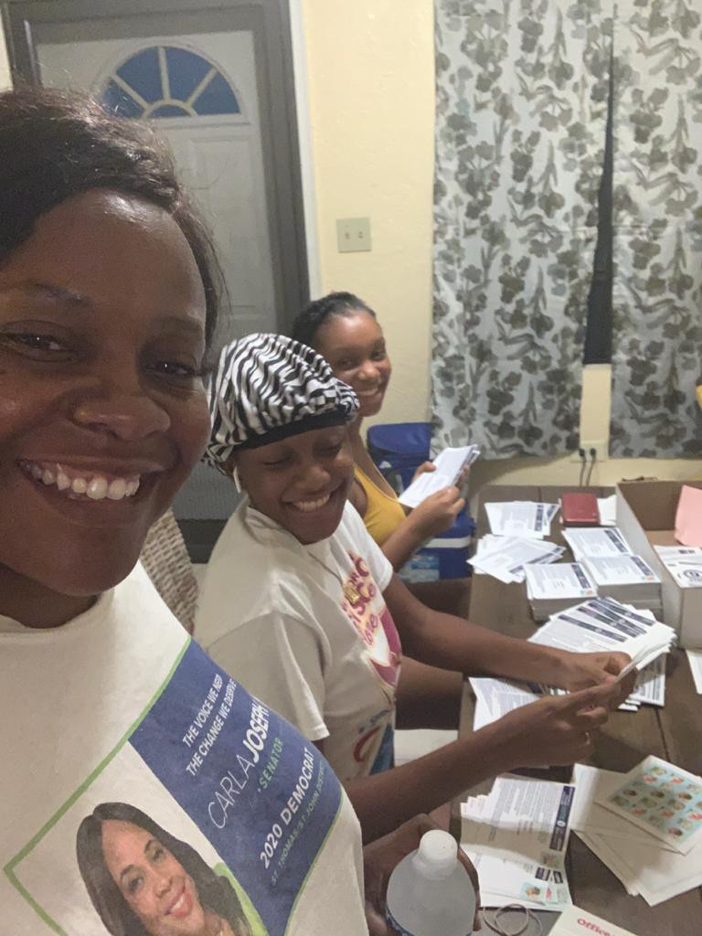 Getting the voter's mailing together with my team
