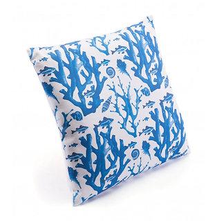 Reef Pillow Blue & White