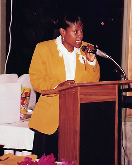 Carla Joseph at Antigua and Barbuda Heritage Link Event