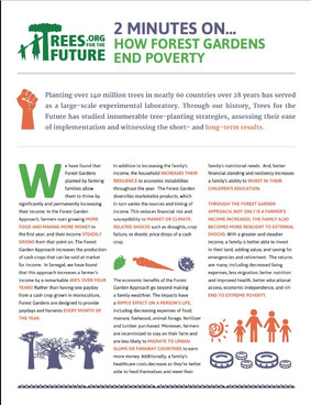 How Forest Gardens End Poverty