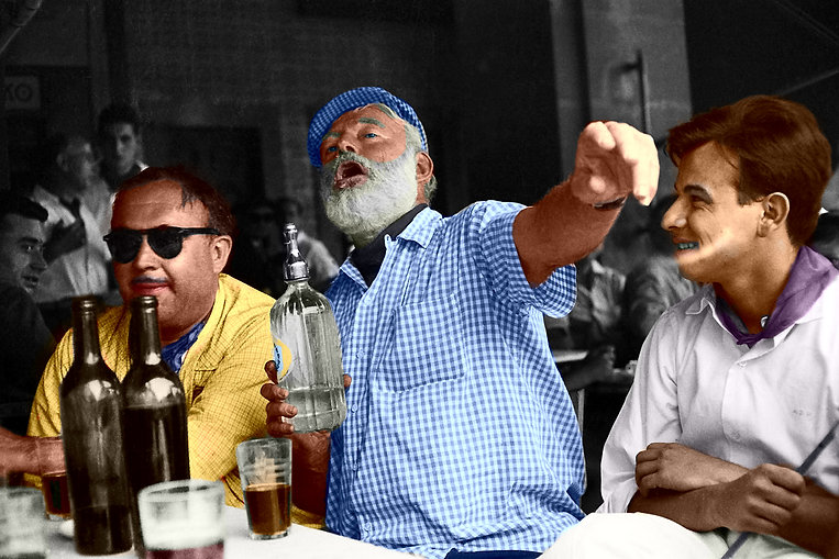 Ernest Hemingway Kicking It In A Bar In