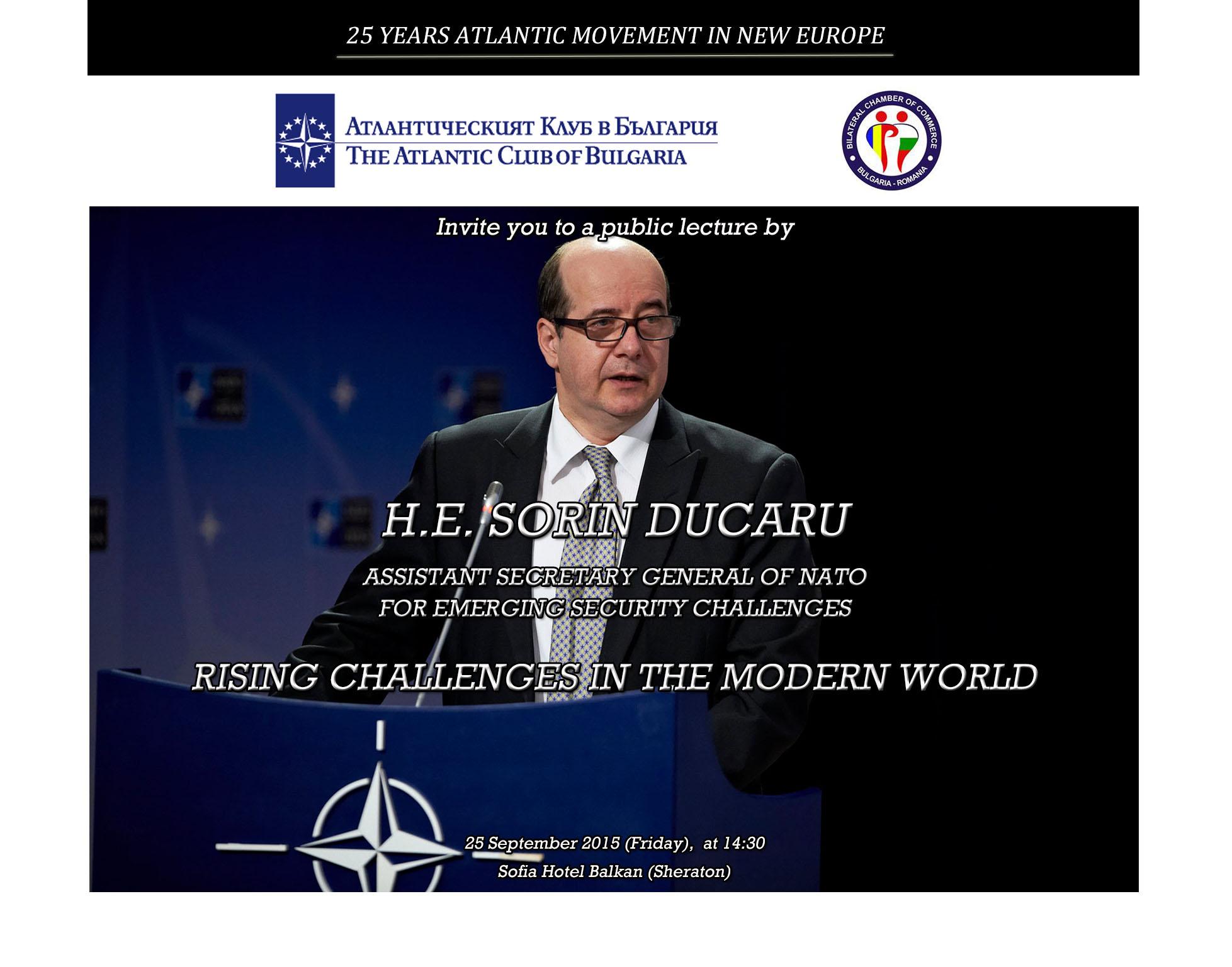 Public lecture of HE Sorin Ducaru
