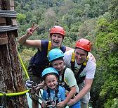 Family fun at the zipline
