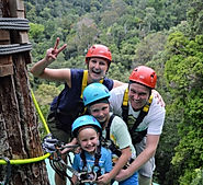 Family fun at the zipline