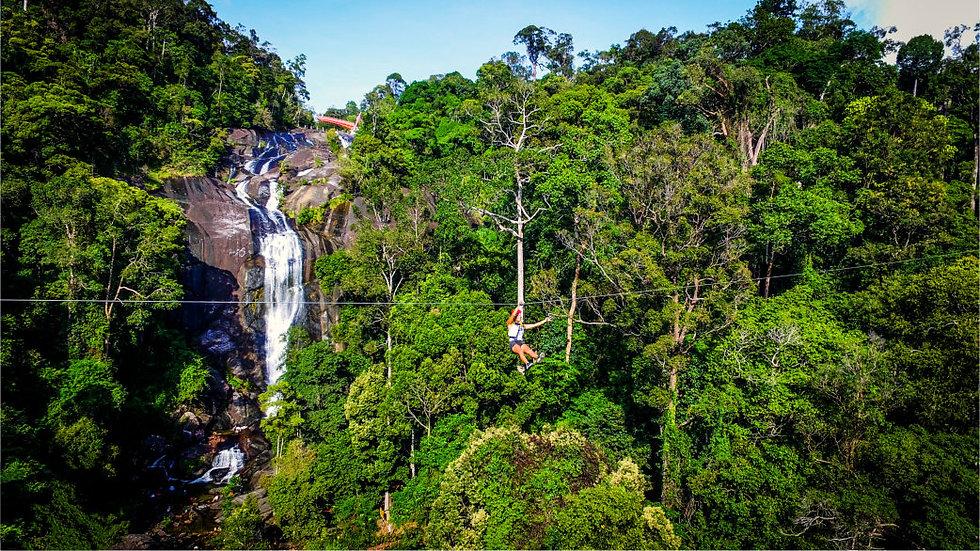 Seven wells waterfall zipline
