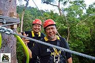 Happy couple on Langkawis greatest zipline