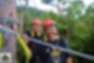 Happy couple on Langkawis greatest zipline