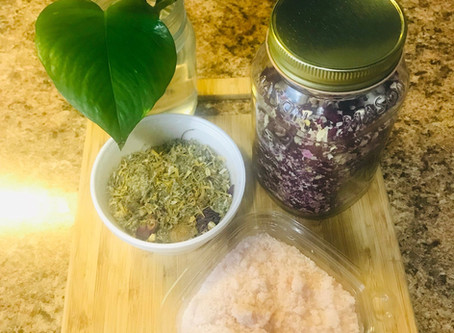 SOULstice Tea: A Spiritual Bath Recipe for Energy Clearing, Consecrating and Creating Calm