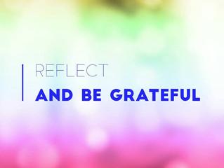 Monday Matters   Reflect and Be Grateful
