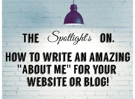 """How to Write an Amazing """"About Me"""" Page That Stands Out                              and is as Easy"""