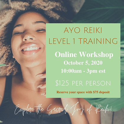 AYO REIKI - Level 1 Training - Certification