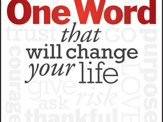 One Word Can Change Your Life. What's Yours?