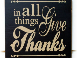 In All Things, Give Thanks!