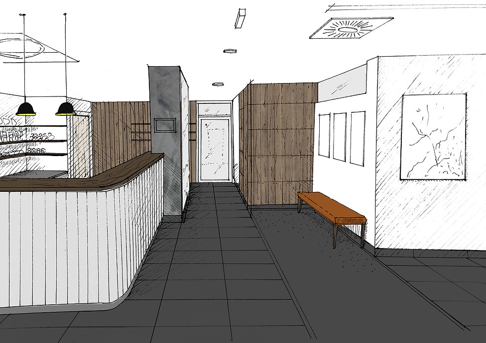 Skica NoA Architekti Recepce